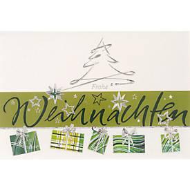 Weihnachtskarte Präsent mit Umschlag
