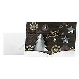 Weihnachtskarte Winter Woods mit Umschlag