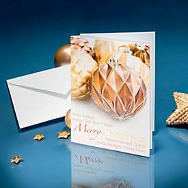 Weihnachtskarten Fancy Christmas, Glanzkarton, inkl. Umschlag, DIN A6, 25 Stück