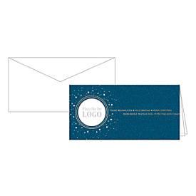 Weihnachtskarten Korsch Logo, 210 x 105 mm, Fensterstanzung, Einlagen & Umschläge, d.blau, 10 Stück