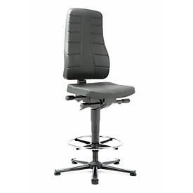 Werk-draaistoel All-in-One 9641, PU-schuimrubber zwart