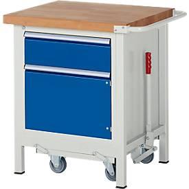 Werkbank Serie 8152, fahrbar, absenkbar, mit Schublade