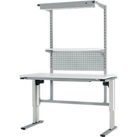 Werktafel met gemotoriseerde hoogteverstelling