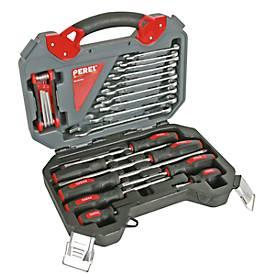 Werkzeugsatz Toolland, 26-tlg., Chrom-Vanadium-Stahl, in Aufbewahrungsbox mit Griff