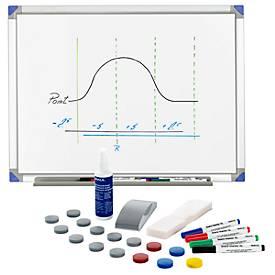 Whiteboard 90120, Alurahmen + Whiteboard-Zubehör-Set Standard GRATIS