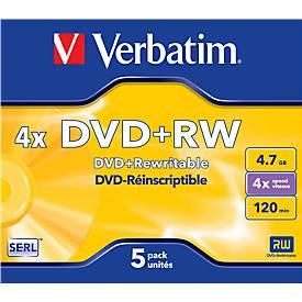 Wiederbeschreibbare DVD-Rohlinge von Verbatim®, DVD+RW