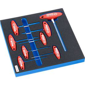 WIHA zeskant-schroevendraaierset voor de behuizing van de FS4-serie, 8 st., in hardschuiminzet.