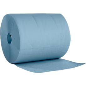 WIPEX Putzpapierrolle Basic-Line, 2-lagig, 500 Tücher pro Rolle, 2 Rollen
