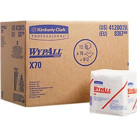 WYPALL® Reinigingsdoekjes  X-70, hydroknitmateriaal, pak van 912 doeken, 1-laags, wit