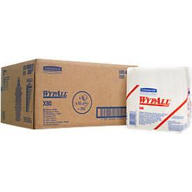 WYPALL® Reinigingsdoekjes X-80, hydroknit materiaal, pak van 200 doeken, 1-laags, wit