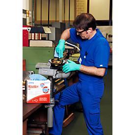 WYPALL® Reinigingsdoekjes X-80, hydroknit materiaal, voordeelbox van 400 doeken, 1-laags, staalblauw