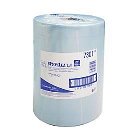 WYPALL* Wischtuch L-20 EXTRA + Großrolle, 500 Stück, blau, 1 Rolle