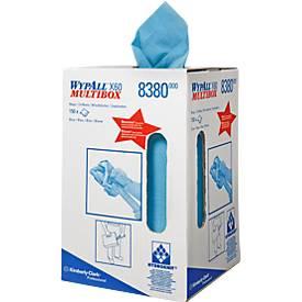 WYPALL* Wischtuch X-60, aus Hydroknitmaterial, 150 Tücher, 1-lagig, blau