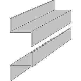 Z-Profischienen, 1000 mm lang, für ORGATEX-Tafeln