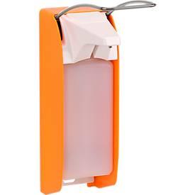 Zeep- en desinfectiemiddeldispenser Ingo-man plus, 1000 ml, oranje