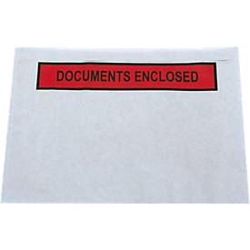 Zelfklevend documentenmapjes 'Documents enclosed' - A5