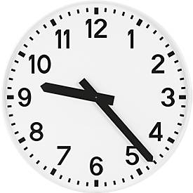 Zendergestuurde klok, wijzerplaat met cijfers