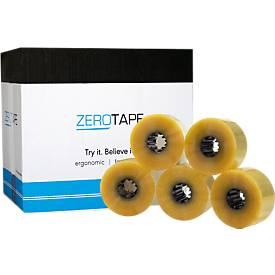 ZeroTape® 200 verpakkingstape, 160 m lengte, voor ZeroTape® handafroller, 6 rollen, transparant