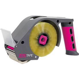 ZeroTape® handafroller, voor rollen b 48 mm x l 160 m, geruisloos afrollend, pink