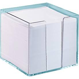 Zettelbox, transparent, 95x95x95 mm, 700 Blatt