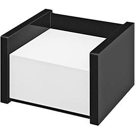 Zettelbox WEDO Black Office, schwarz mattiert/glänzend, mit 500 Notizblatt