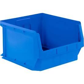 Zichtmagazijnbak LF 543, kunststof, 57 l, blauw