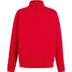 Zip-Neck Sweat, rot, XXL