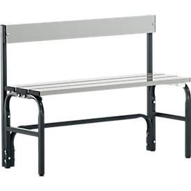 Zitbank+RL, type F, staal/aluminium 101