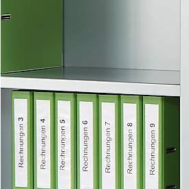 Zwischenboden, für Schiebetürenschrank, weißaluminium RAL 9006, 1200 x 325 mm, 2 Stück