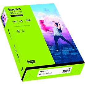 Kleurenpapier tecno Colors, A4-formaat, 160 g/m², heldergroen, pak van 250 vellen