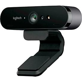 Logitech® Webcam ConferenceCam BRIO, 4K UHD, 5-fach Zoom, Winkel einstellbar, Autofokus, 2 Mikrofone, Blende & Clip