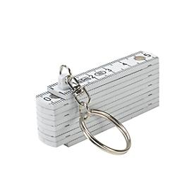 0,5-m-Kunststoffzollstock, transparent, Weiß, Standard, Auswahl Werbeanbringung optional