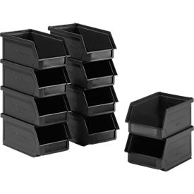 10 Sichtlagerkasten LF 211, recycelter Kunststoff