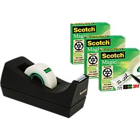 3 rollen plakband Scotch® Magic™ + tafelafroller, gratis