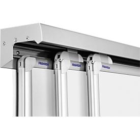 3-voudige wandrail Pro-serie, aluminium, incl. beschermingsrail, 2000 mm