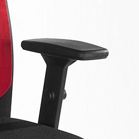 4D T-Armlehnen-Paar, schwarz, höhen-, breiten- und tiefenverstellbar, schwenkbar