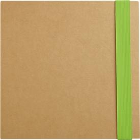 5-in-1 Notizbuch, mit Klebezetteln, Markerblöcken, Kugelschreiber, Blankopapier-Block, grün