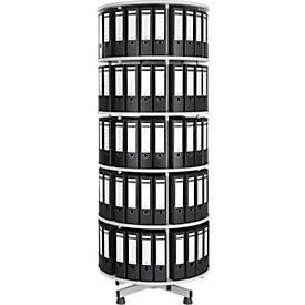 5-voudige roterende vijlkolom + 20 Schäfer Shop Select DIN A-vijlen, 80 mm zwart, gratis