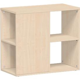 Aanbouwladeblok PALENQUE, 3 zijden open, B 400 x D 800 x H 720 mm, esdoorn