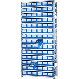 Aanbouwstelling R 3000, 56 stellingbakken, RK 421 B, d 400 mm