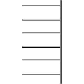 Aanbouwstelling R 3000, 6 legborden, B 1025 mm x D 300 mm, legborden gelakt