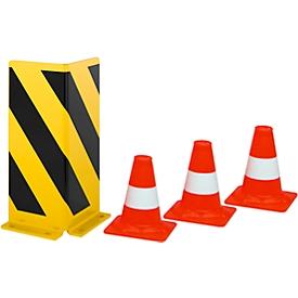 Aanrijdbeveiliging + 3 verkeerskegels gratis