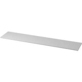 Abdeckplatte TOPAS LINE, für Regale und Schränke,  B 2005 mm, lichtgrau