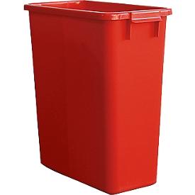 Abfallbehälter ohne Deckel, 60 Liter, rot
