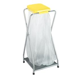 Abfallsammler mit Boden, 70 l, Deckel gelb