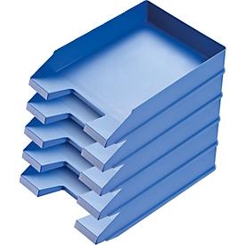 Ablagekorb Economy, DIN C4, 5 Stück, blau