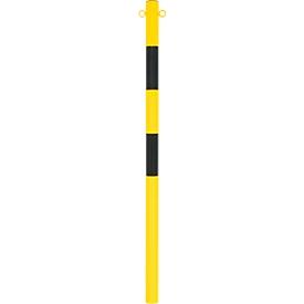 Absperrpfosten zum Einbetonieren, ø 60 mm, gelb/schwarz
