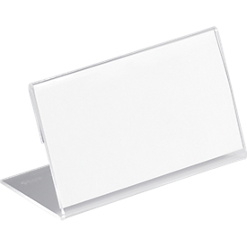 Acryl-Tischnamensschild, L-Form, 52x100 mm,10 St.