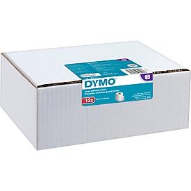 Adress-Etiketten, Papier, permanent haftend, 89 x 36 mm, 12 x 260 Stück, weiß