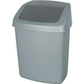 Afvalbak met swingdeksel, 15 liter, grote inwerpopening